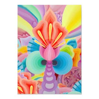 """Carte Peinture """"amour """" d'abstraction"""
