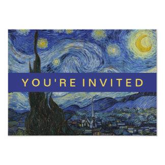 Carte Peinture de Vincent van Gogh de nuit étoilée