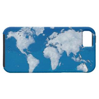 Carte pelucheuse du monde de nuages coque tough iPhone 5