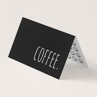 carte perforée de fidélité pliée par café