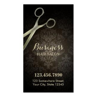 Carte perforée de salon de coiffure de damassé de carte de visite standard