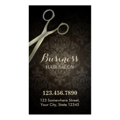 Carte perforée de salon de coiffure de damassé de modèles de cartes de visite