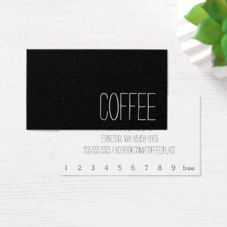 Carte perforée foncée de café de fidélité de mot