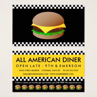 carte perforée modèle d'hamburgers