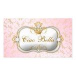 Carte perforée rose divine d'or de 311 Ciao Bella Modèle De Carte De Visite