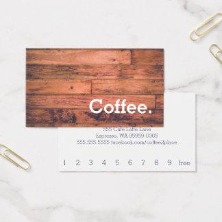 Carte perforée simple de café de fidélité de