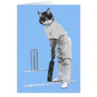 carte personnalisable cricketing vintage de chat
