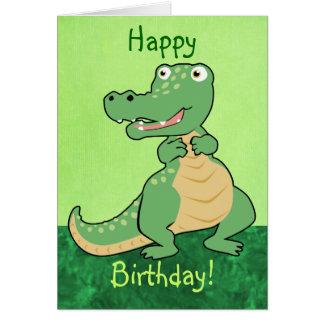 Carte personnalisable de crocodile de bande