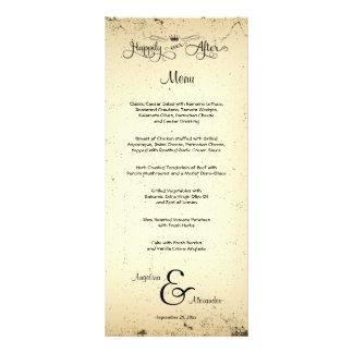 Carte personnalisable de menu de mariage