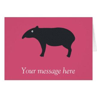 Carte personnalisable de tapir
