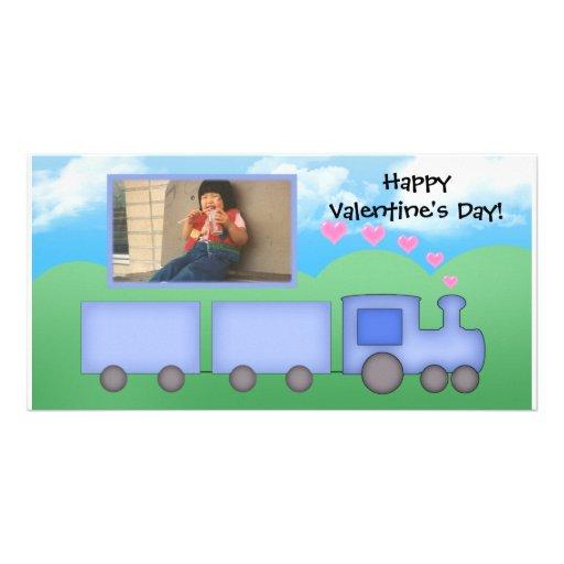 Carte personnalisable de train cartes de vœux avec photo