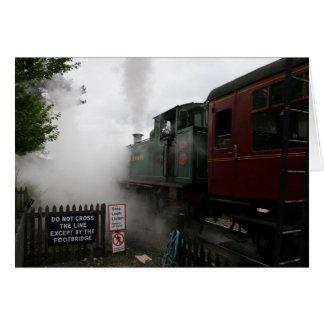 Carte personnalisable de train de vapeur