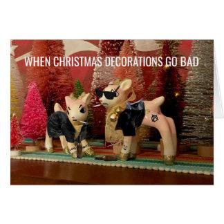 Carte personnalisable détériorée par décorations