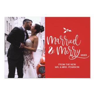 Carte Personnalisable, marié et joyeux, Noël, photo