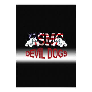 Carte personnalisable vaniteuse d'usmc - chiens de