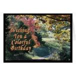 Carte-personnaliser colorée d'anniversaire il