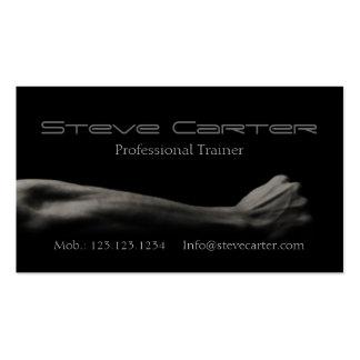 carte personnelle professionnelle d'entraîneur/cul modèles de cartes de visite
