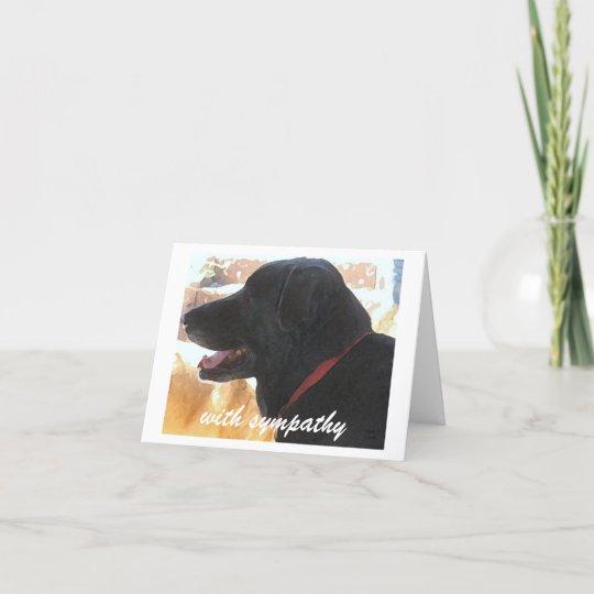 Carte Perte de chien - sympathie d'animal familier   Zazzle.fr
