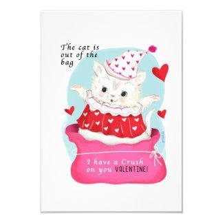 Carte Petit cru traditionnel Valentine de chat
