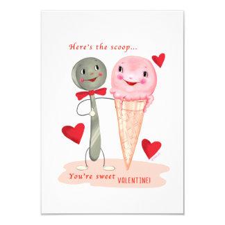Carte Petit cru traditionnel Valentine de glace