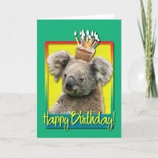 Carte Petit Gâteau Danniversaire Koala