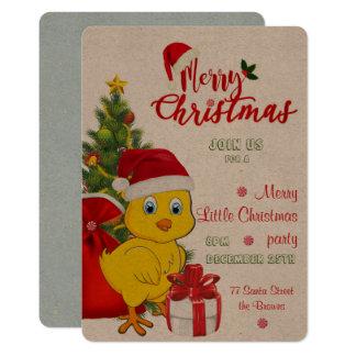 Carte Petit Noël de poulet de bébé