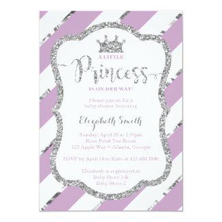 Carte Petit pourpre d'invitation de princesse baby