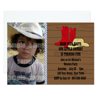 Carte Petite fête d'anniversaire de cowboy