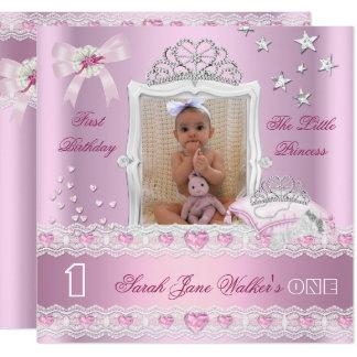 Carte Petite photo de fête d'anniversaire de princesse