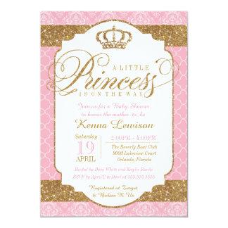 Carte Petite princesse baby shower de rose royal et d'or