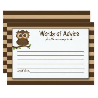 Carte Petits conseil et sagesse mignons de baby shower