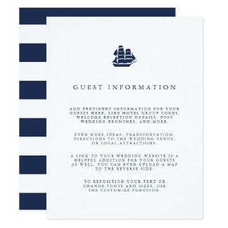 Carte Petits groupes nautiques d'invité de mariage de