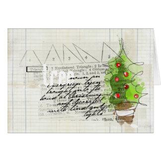 carte peu commune de griffonnage de Joyeux Noël