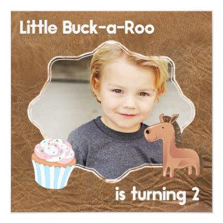 Carte Peu d'image d'anniversaire de Buckaroo deuxième