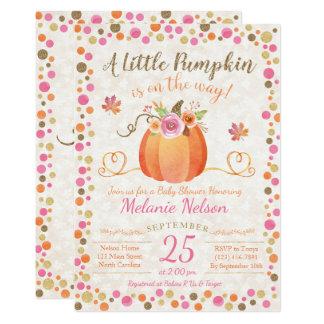 Carte Peu d'invitation de baby shower d'automne de