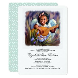 Carte Peu d'invitations de sainte communion d'ange