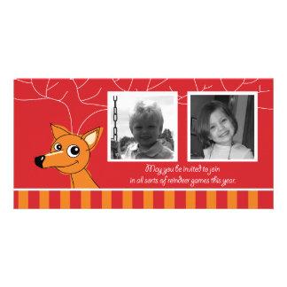 Carte photo 2 horizontal cartes de vœux avec photo