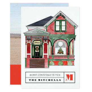 Carte photo à la maison victorien d'illustration carton d'invitation  12,7 cm x 17,78 cm