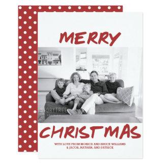 Carte photo à la mode | Bourgogne de Joyeux Noël