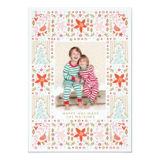 Carte photo assez coloré de fête de Noël