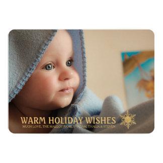 Carte photo chaud de vacances de nouvelles carton d'invitation