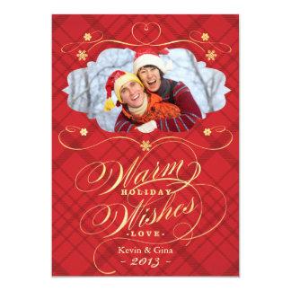Carte photo chaud de vacances de souhaits de carton d'invitation  12,7 cm x 17,78 cm