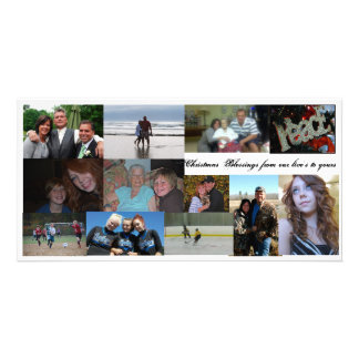 carte photo, collage, cartes de vœux avec photo