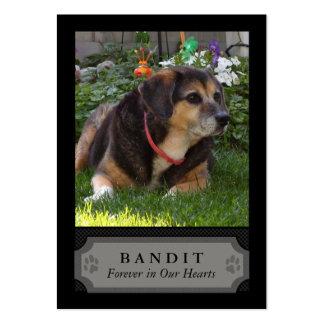 Carte photo commémoratif de chien - noir avec le p carte de visite
