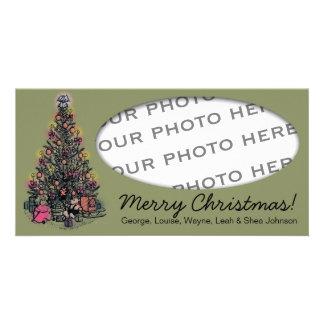 Carte photo d'arbre de Noël Cartes De Vœux Avec Photo