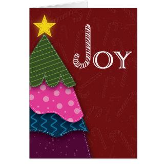 Carte photo d'arbre de Noël de joie de sucre de