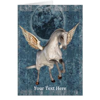 Carte photo d'art de cheval d'imaginaire de