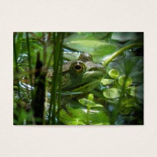 Carte photo d'ATC de grenouille verte