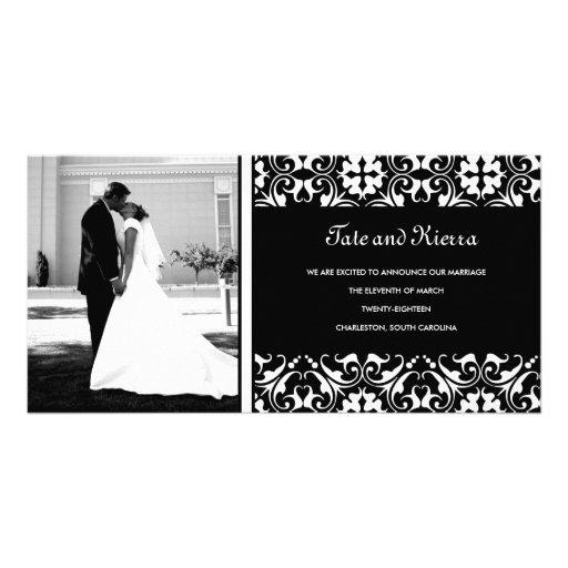 CARTE PHOTO de 311-WHITE MARIAGE DAMASSÉ Carte Avec Photo
