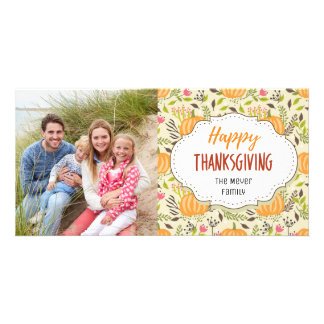 Carte photo de bon thanksgiving de récolte de